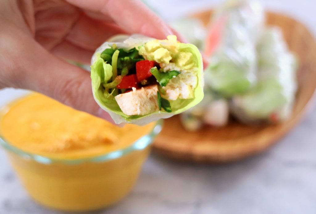 Tofu Spring Rolls with Carrot Ginger Sauce | The Nutrition ...