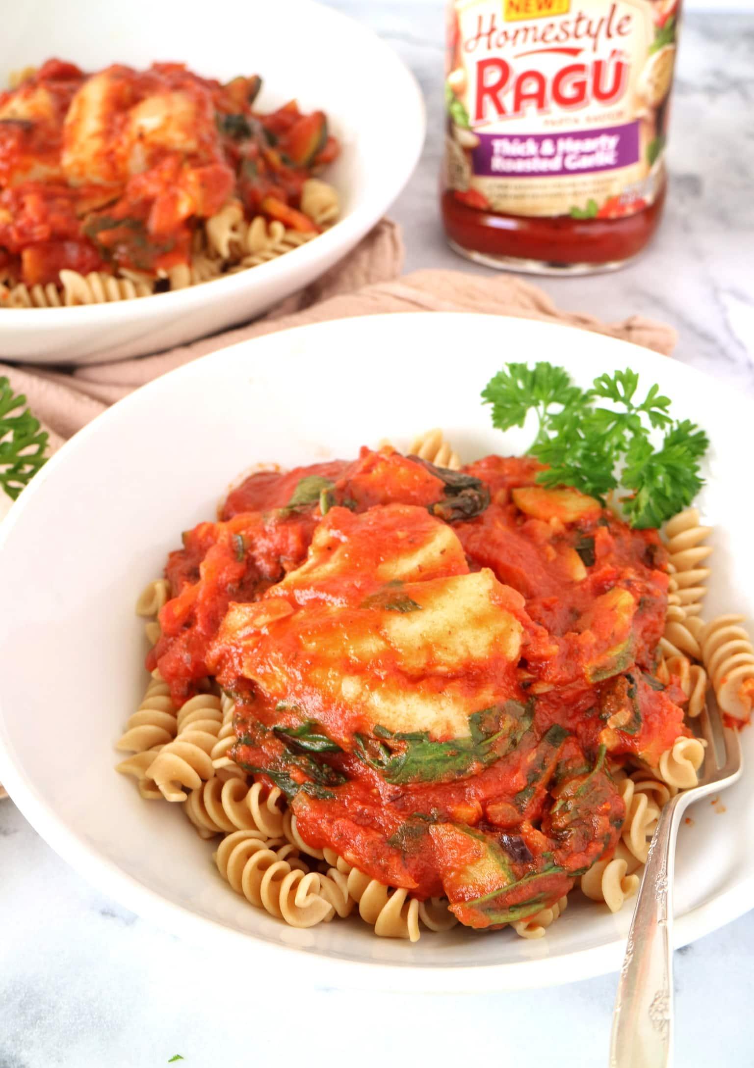 Rotini + Ragu Homestyle Pasta Sauce