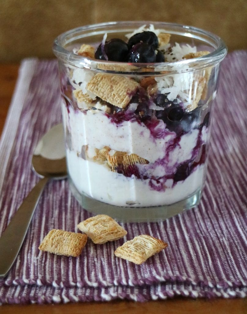 Blueberry Cottage Cheese Parfait