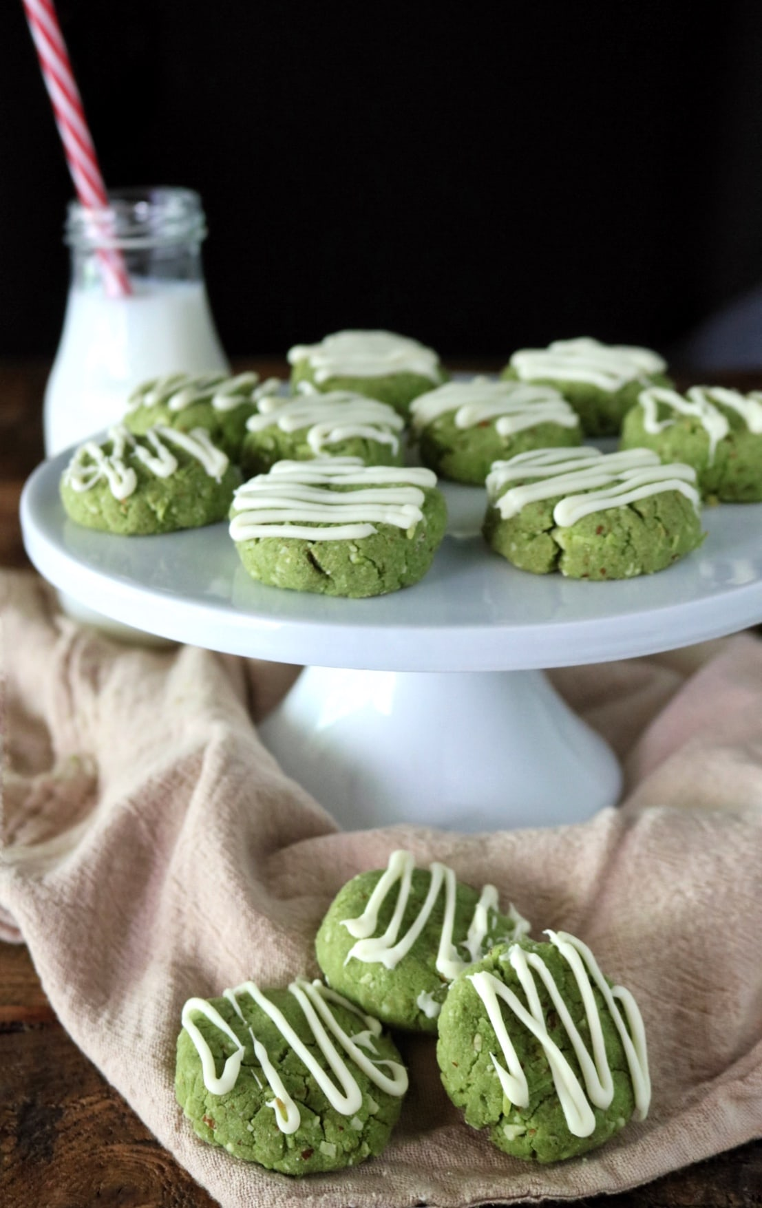 Matcha Almond Cookies » The Nutrition Adventure