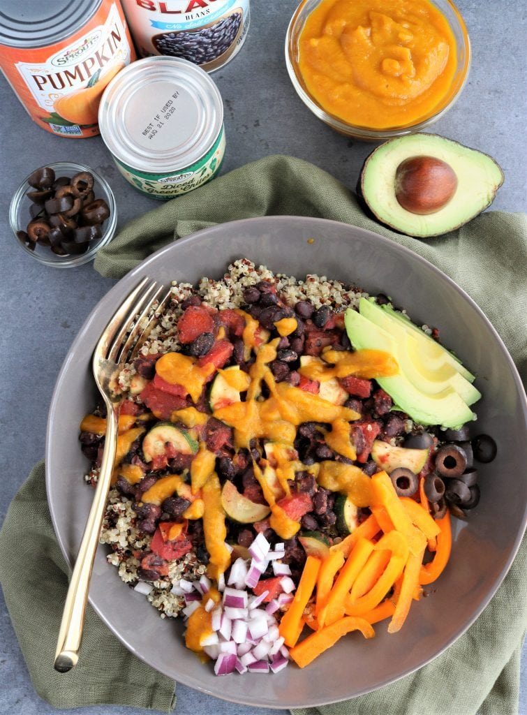 Black Bean Bowls with Pumpkin-Chile Sauce